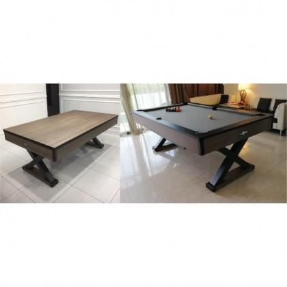7FT FOOSPEED FX 2-IN-1 MULTIPURPOSE POOL TABLE